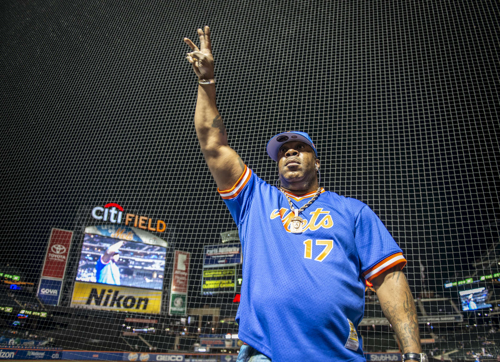 Rapper Busta Rhymes performs at the New York Mets vs. LA Dodgers post game at Citi Field located at 123-01 Roosevelt Avenue in Queens, New York on Friday June 22, 2018.