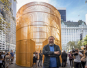 Chinese contemporary artist and activist Ai Weiwei poses for photos after the news conference concerning his instillation titled Good Fences Make Good Neighbors, at the corner of 5th Avenue and 60th Street in Manhattan on Tuesday, October 10, 2017. The multi-venue exhibition instillation titled Good Fences Make Good Neighbors is inspired by the international migration crisis and current global geopolitical landscape.
