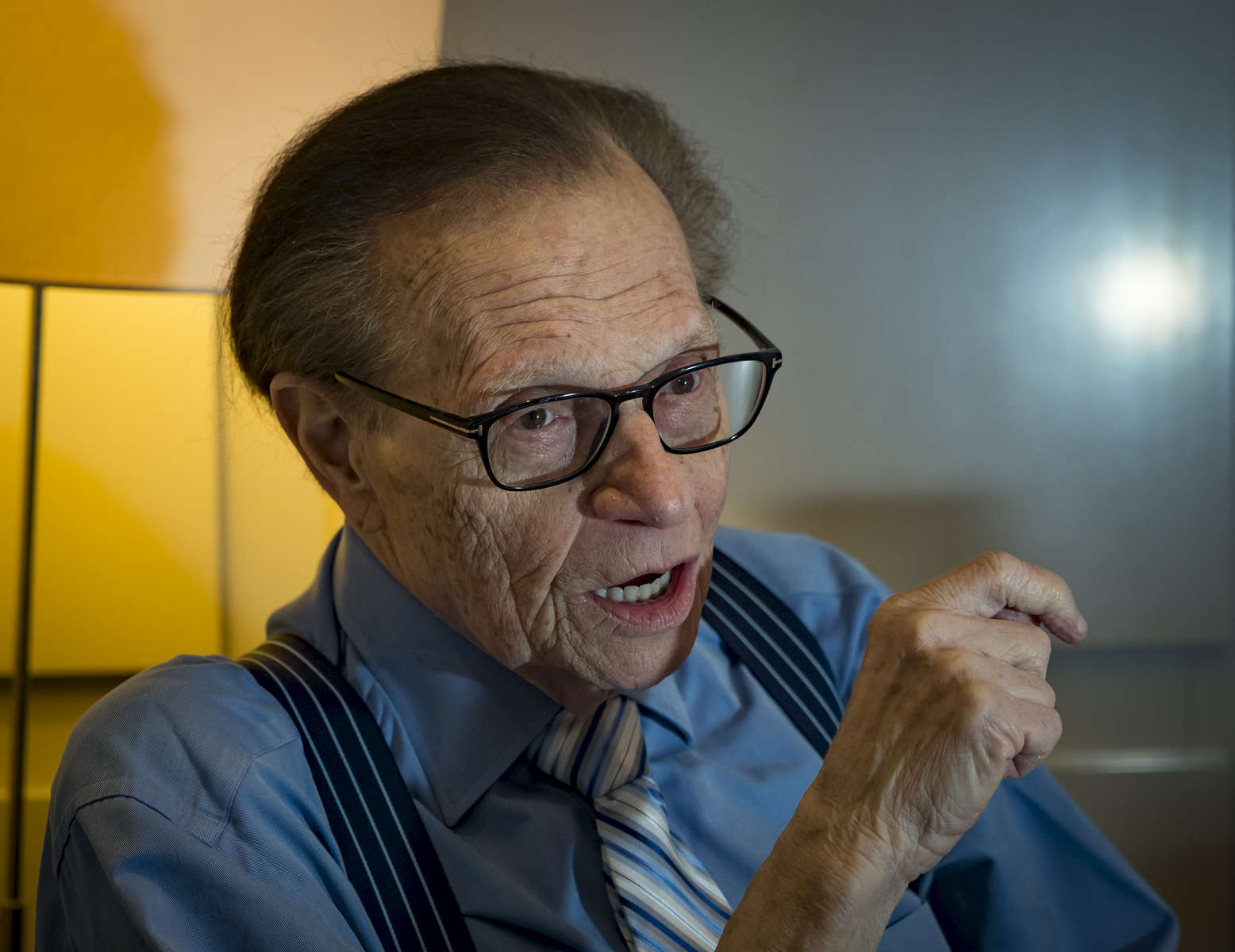 Larry King talks to the New York Daily News inside Regency Hotel located at 540 Park Avenue in Manhattan on Thursday, March 30, 2017.