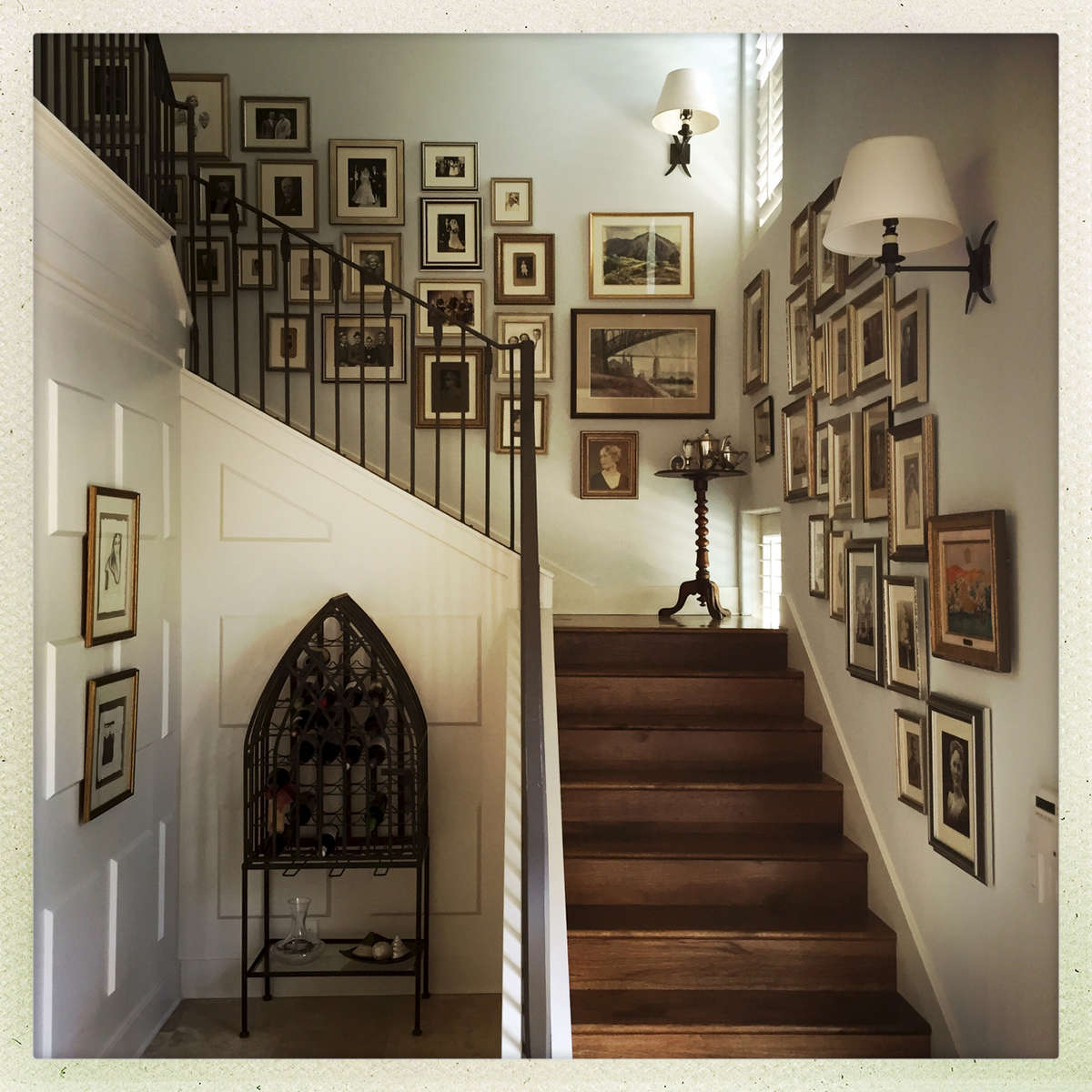 A new stairwell, but instant character with classic details and lots of family history.