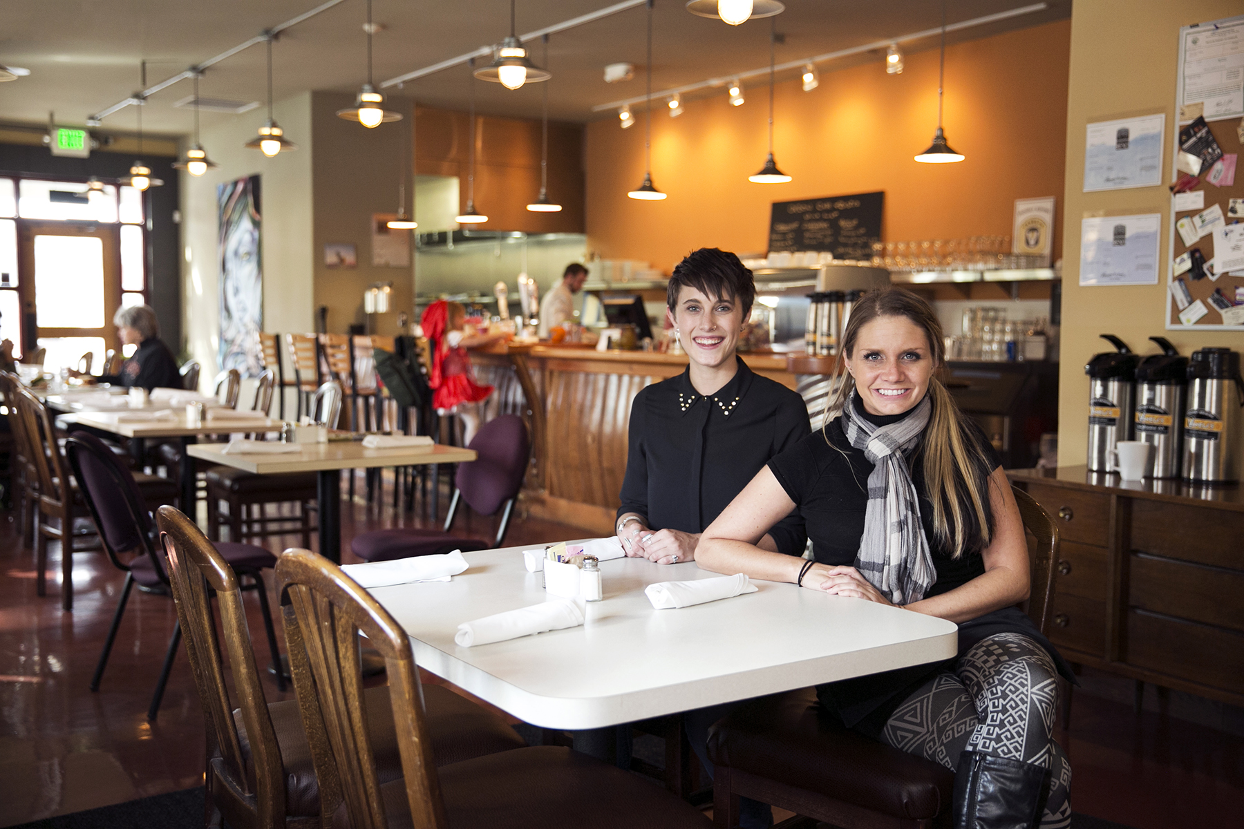 (L to R) Grace Greenspan, Tawna Fayette of Oxbow Cafe