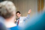 Caption: Joseph Woodin, President and CEO of Gifford Medical Center, speaks during the Randolph Area Community Development Corporation (RACDC) 2015 Annual Meeting. Randolph, Vermont. United States, 20151027.© Copyright 2015 Seth Butler. All Rights Reserved.
