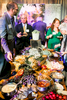 Guests enjoy food and drink at the University of Vermont Foundation Campaign Gala.. Event design by Feats Inc.