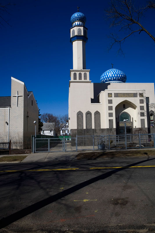 Masjid and Church. Queens, NY.