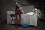 PORT-AU-PRINCE, HAITI - FEBRUARY 11: Ashley Joseph suffers from depression at L'Hopital General on February 11, 2010 in Port au Prince .