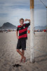 RIO DE JANEIRO, BRAZIL - JUNE 29 : Marius Purschke on June 29, 1014, on Copacabana beach in Rio de Janeiro, Brazil. (Photo by Kim Badawi/Global Assignment by Getty Images for Der Spiegel )