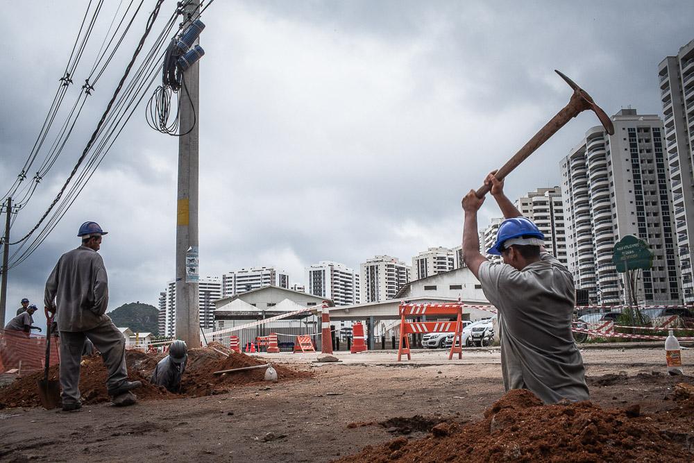 Dite ville olympique - Ilha Pura, Vila Ol?mpica - construction de logements pour les athlètes et les participants aux Jeux Olympiques de 2016 à Barra da Tijuca.
