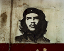 A mural of Ernesto {quote}Che{quote} Guevara was an Argentine Marxist revolutionary, physician, author, guerrilla leader, diplomat, and military theorist. He was a A major figure of the Cuban Revolution, his stylized visage has become a ubiquitous countercultural symbol of rebellion and global insignia in popular culture. Havana, Cuba