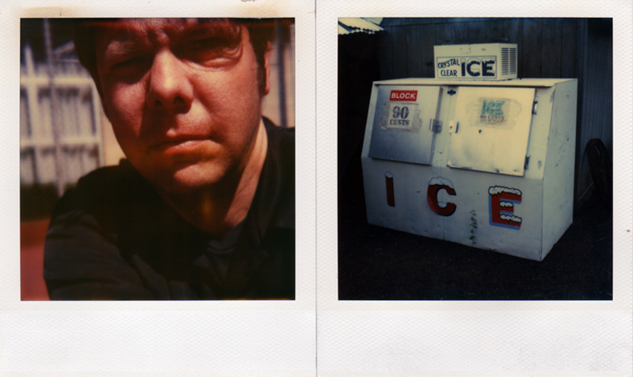 Swollen eye, Paris, France, 2001 (left); Ice Machine, Arizona, 2004 (right).