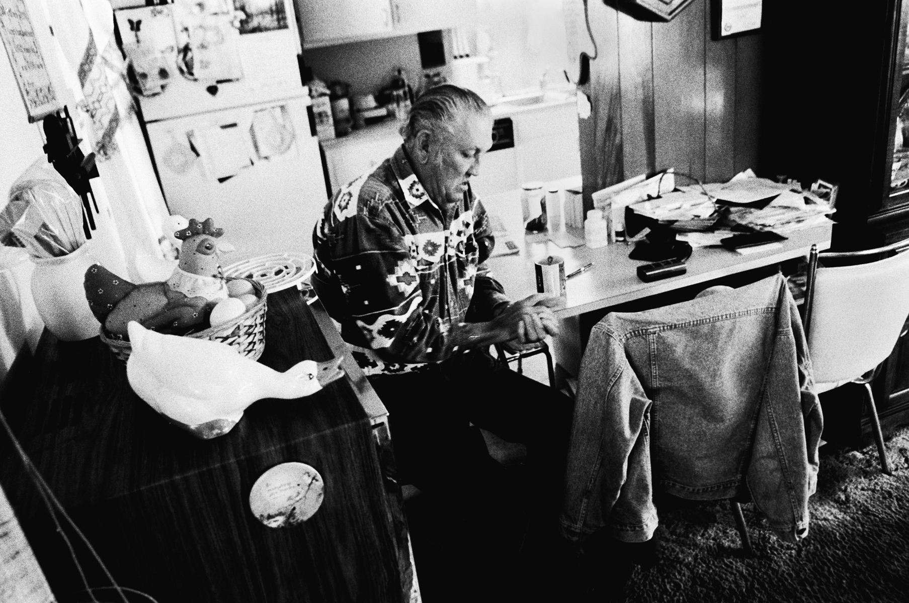 Jack Pendleton sits in his house expressing his anger and frustration over his incarceration at the Louisiana Leper Home.