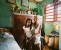 Anaides and her grandmother, Fermina, pose for their portrait.Cotorro, Cuba