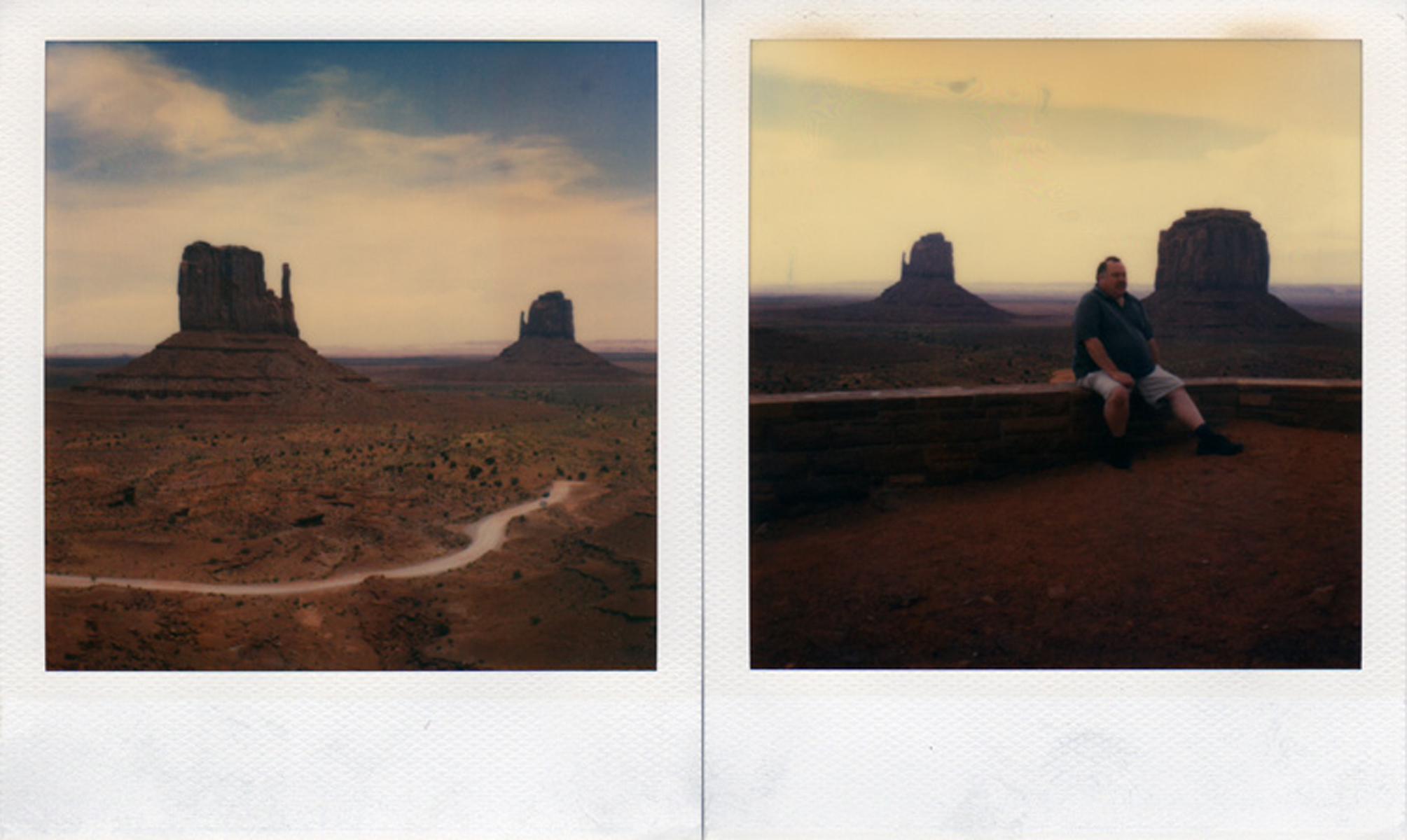 Monument Valley, Utah, 2004 (left); Sight seer, Monument Valley, Utah, 2004 (right).