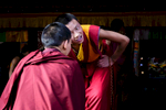 Young Monks heatedly debate Buddhist principals at Larung Gar