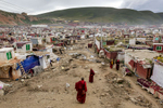 The vast expanse of the island slum that is Yarchen Gar.  Despite the often diabolical living conditions, the nuns here are dedicated to a life spent in reflection and quiet pursuit of enlightenment.  Yarchen provides the opportunity to lean first hand from some of the holiest figures in Tibetan Buddhism.