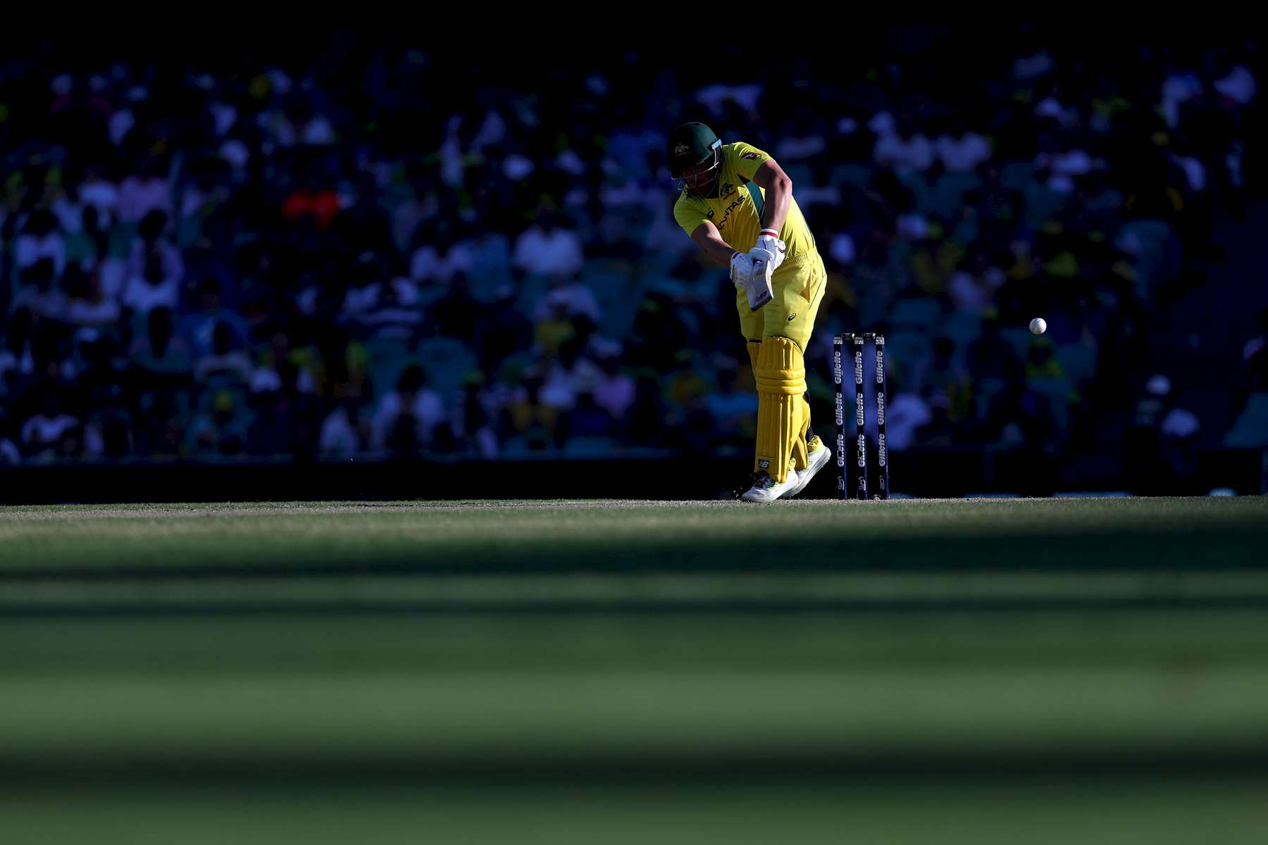 SYDNEY, AUSTRALIA - JANUARY 21:  Aaron Finch of Australia bats during game three of the One Day International series between Australia and England at Sydney Cricket Ground on January 21, 2018 in Sydney, Australia.  (Photo by Brook Mitchell/Getty Images)