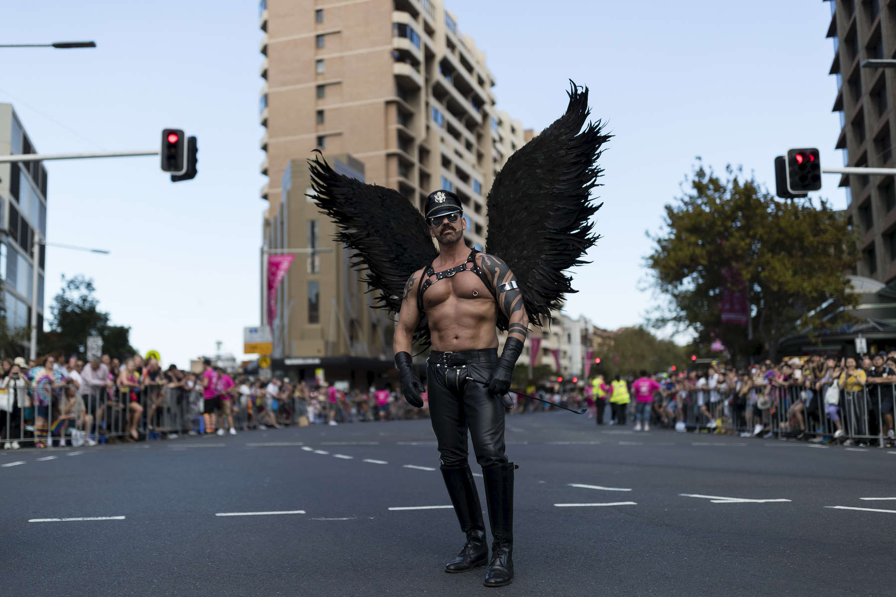 SYDNEY, NEW SOUTH WALES - MARCH 03:  A reveller is pictured on Oxford Street before the 2018 Sydney Gay & Lesbian Mardi Gras Parade on March 3, 2018 in Sydney, Australia.  The Sydney Mardi Gras parade began in 1978 as a march and commemoration of the 1969 Stonewall Riots of New York. It is an annual event promoting awareness of gay, lesbian, bisexual and transgender issues and themes.  (Photo by Brook Mitchell/Getty Images)