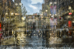 In-camera multiple exposure image of Martin Place 30 May, 2018. Photo: Brook Mitchell