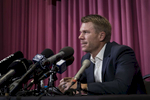 Former Australian Test Cricketer David Warner fronts the media at Moore Park on 31, March. 2018. Photo: Brook Mitchell