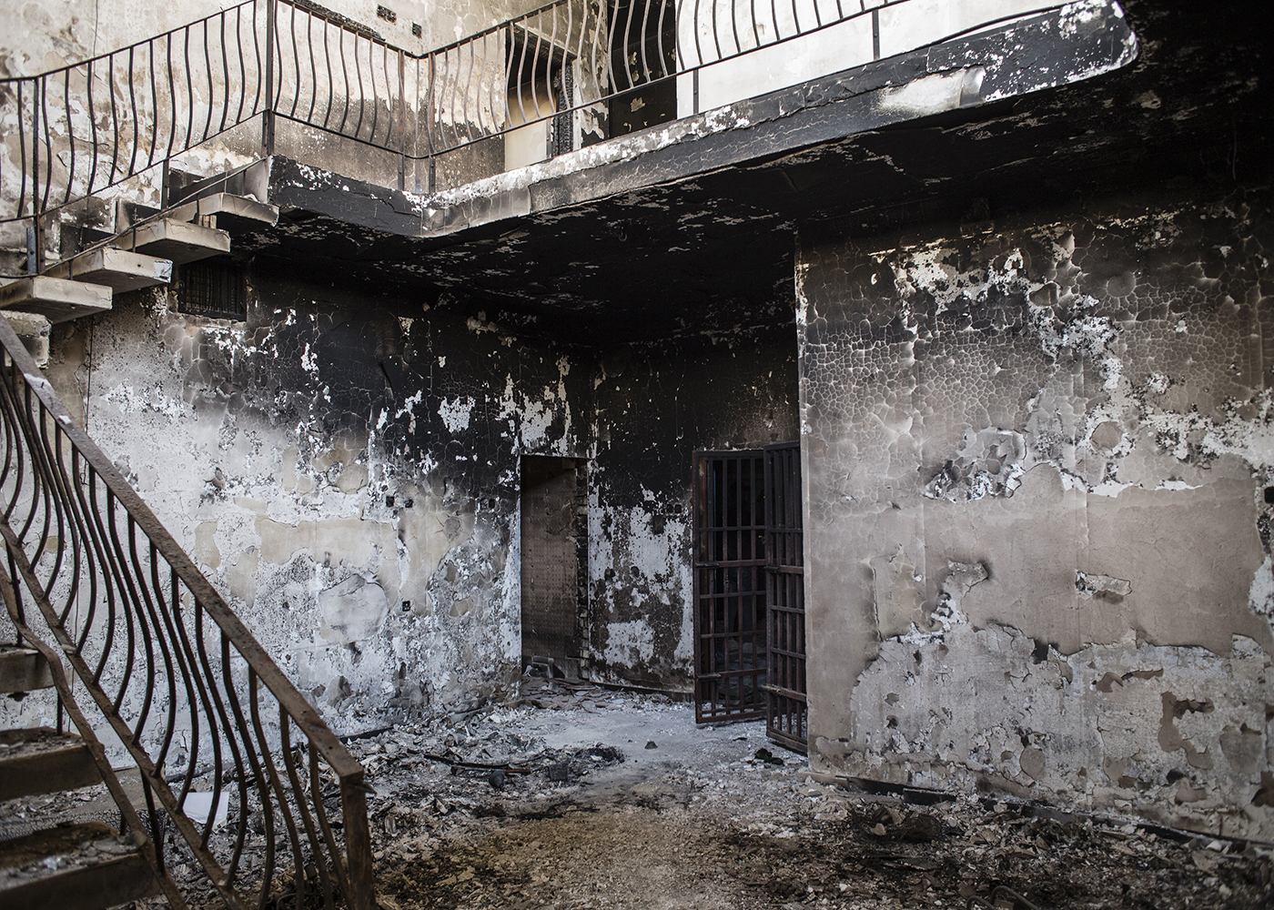 26/06/2016 -- Fallujah, Iraq -- A view of the building where they found an ISIS prison in the Muallimin neighborhood of Fallujah.It's one of the two prison found by police forces spread across three houses. The downstairs rooms used as group cells and the upstairs for solitary confinement.