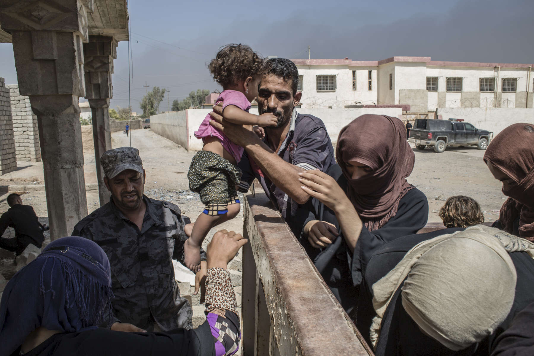 02/09/2016 -- Haji Ali Village, Iraq -- Tens of thousands of Iraqis have been displaced from their homes in villages around Mosul since March. The UN expects up to one million could flee fighting during the battle for Mosul itself.