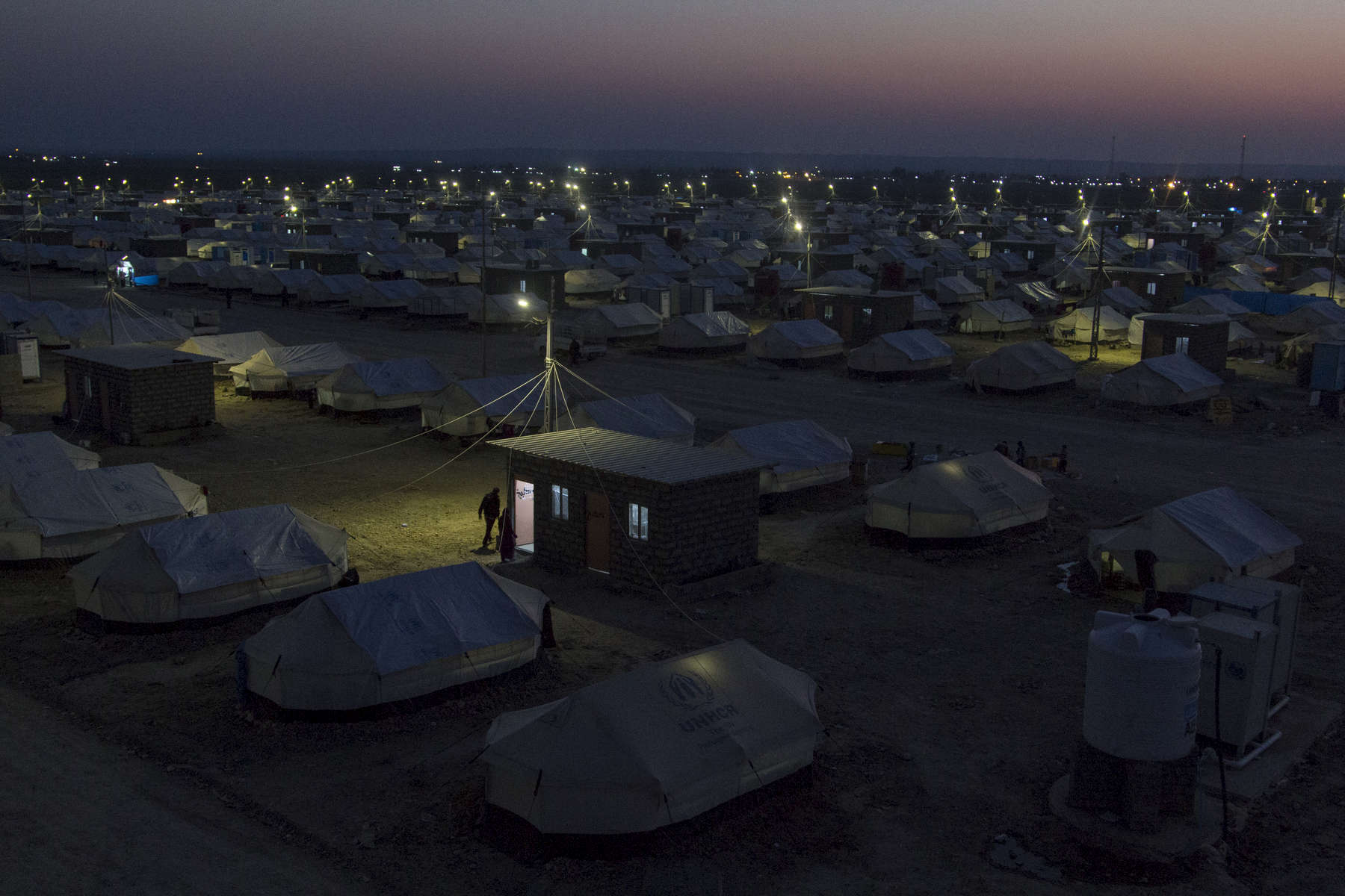 22/01/2015 -- Kirkuk, Iraq -- Laylan camp, located 20 KM south of Kirkuk, was built by UNHCR and the municipality of Kirkuk with around 1500 Tents, approximately 8,500 people live in the camp.