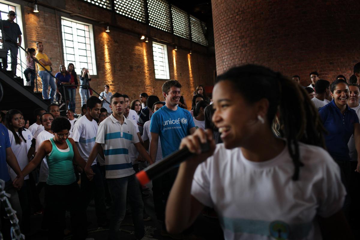 Professions Fair, at Casa das Caldeiras, in Sao Paulo, Brazil, May 18th, 2014.