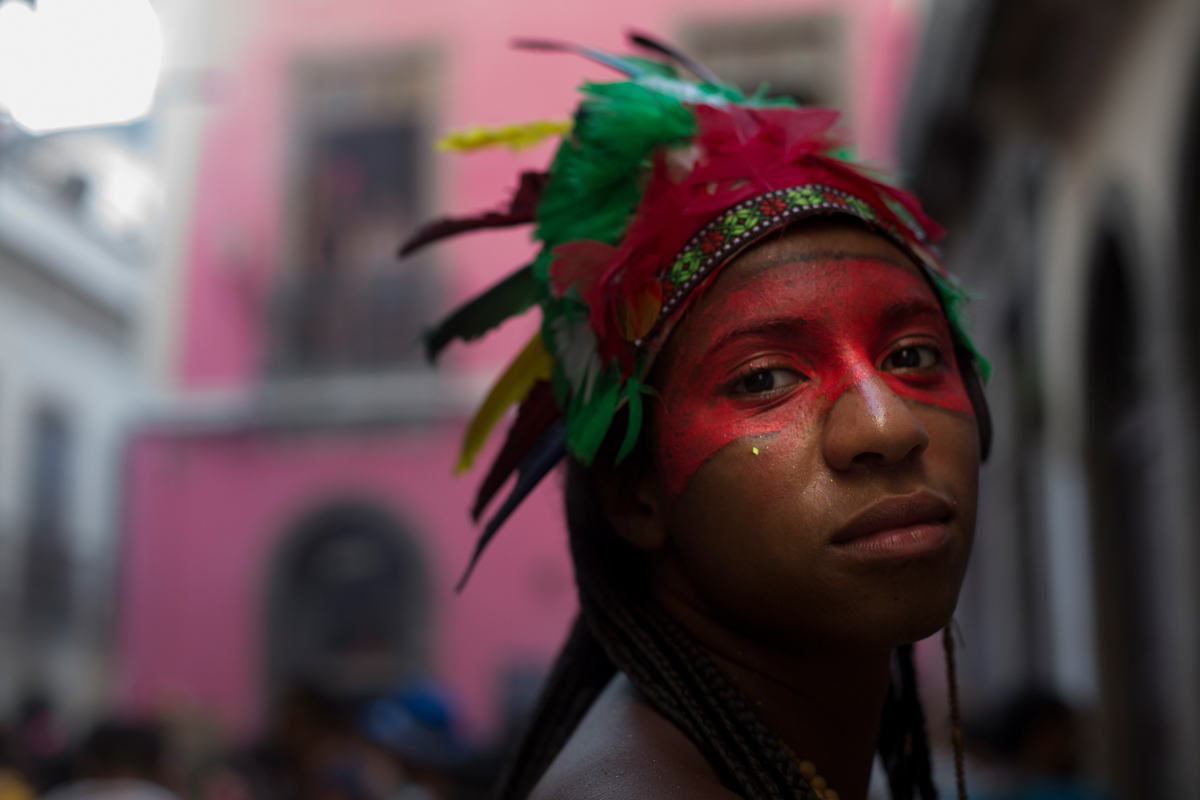People celebrating at the neighborhood of Centro, in a pre Carnival celebration, on the 31st of January 2016, in Rio de Janeiro, Brasil.