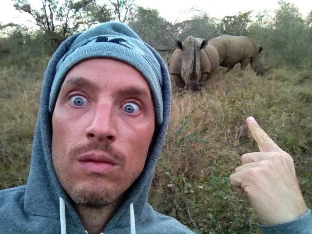 Close Encounter With Rhino In South Africa.