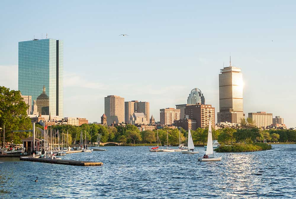 Back Bay Charles River Panorama