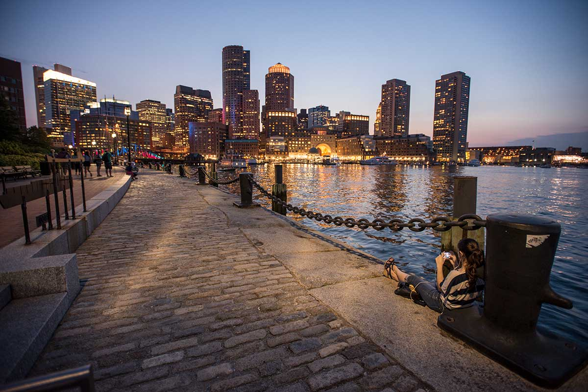 Dusk on Boston Waterfront