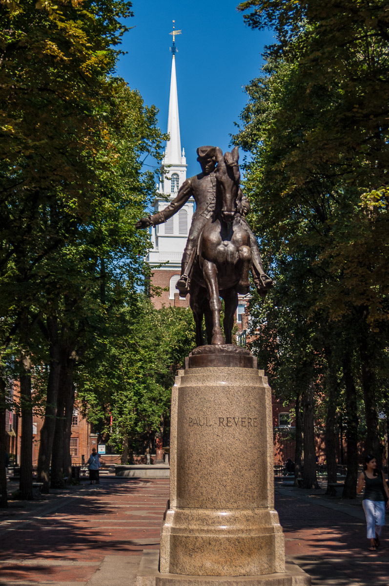 Paul Revere Statue-Boston's North End