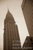 Chrysler Building; New York City; fog