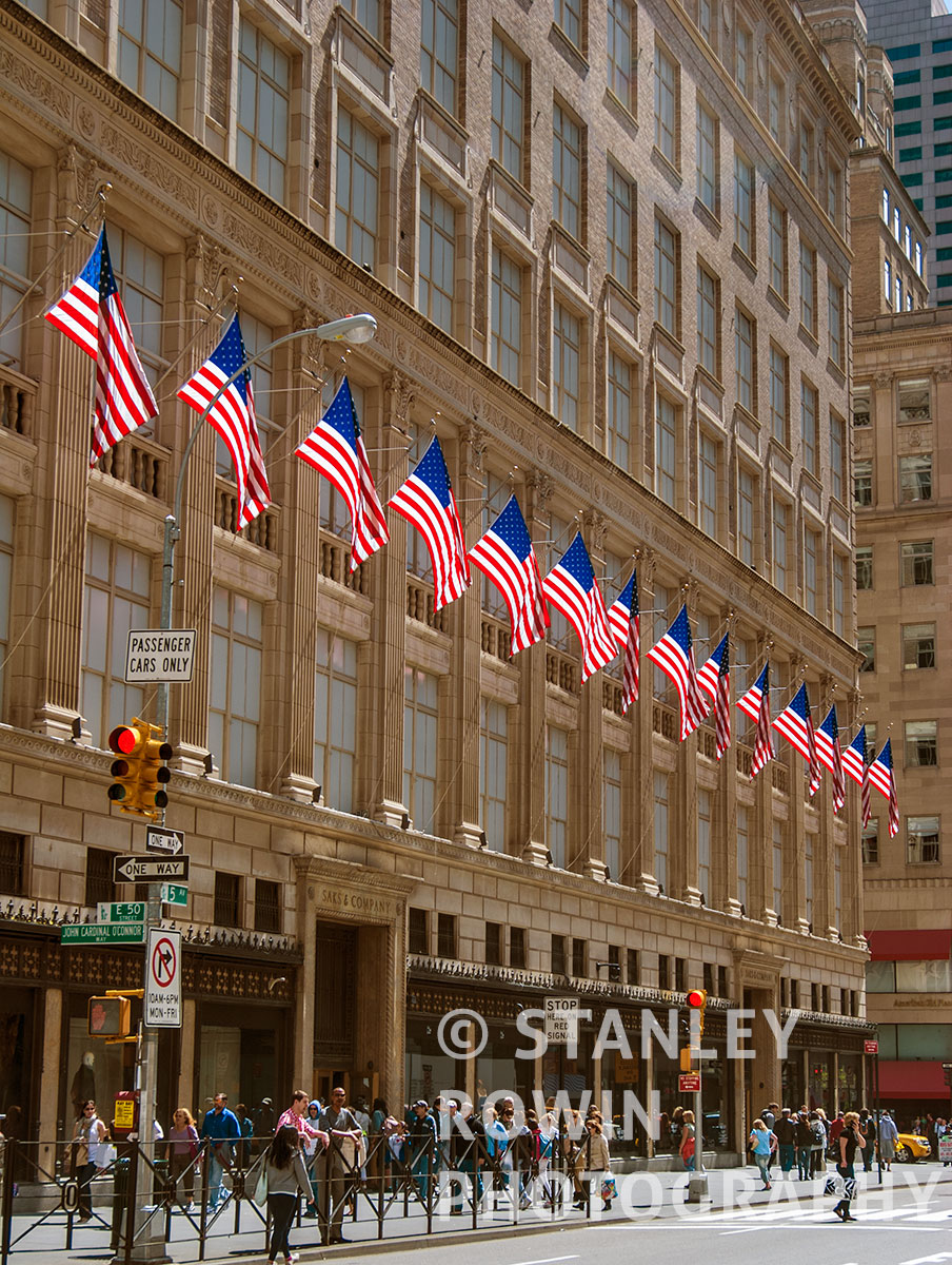 Flags, Saks Fith Avenue