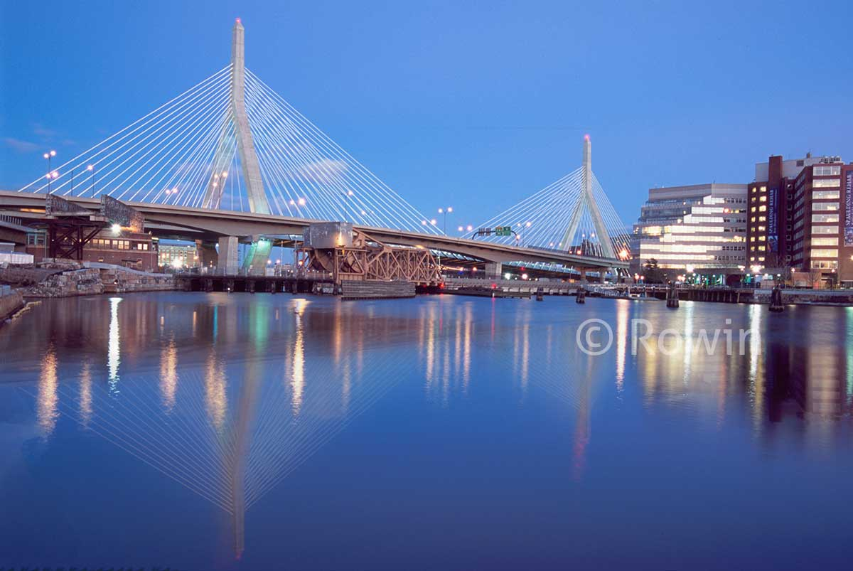 Zakim Bridge Panorama at dusk