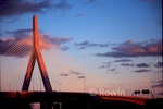Leonard P. Zakim Bunker Hill Bridge at Sunset