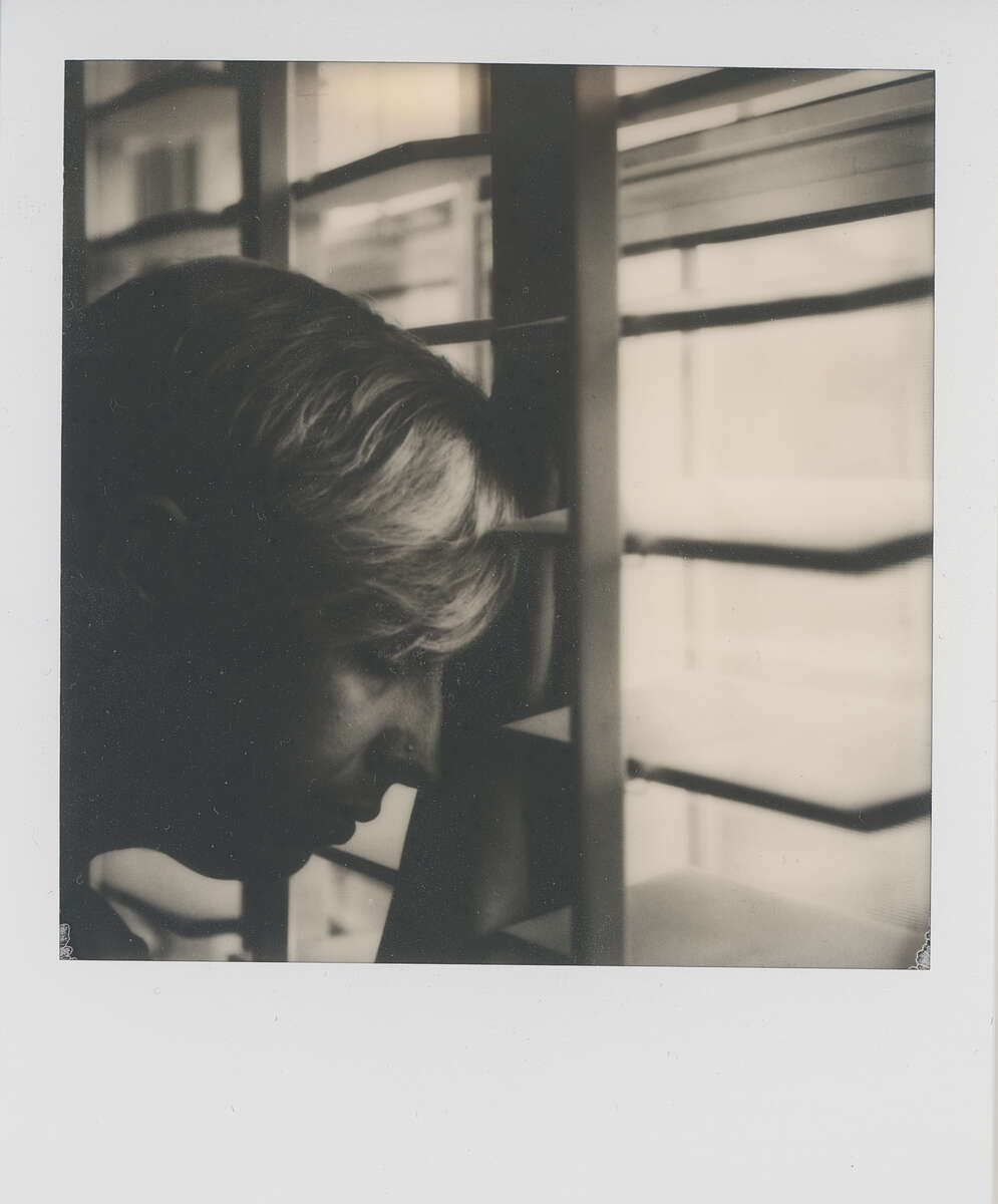 Polaroid SX-70 B&W Film Scan