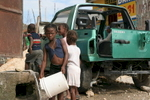 Port au Prince, getting water