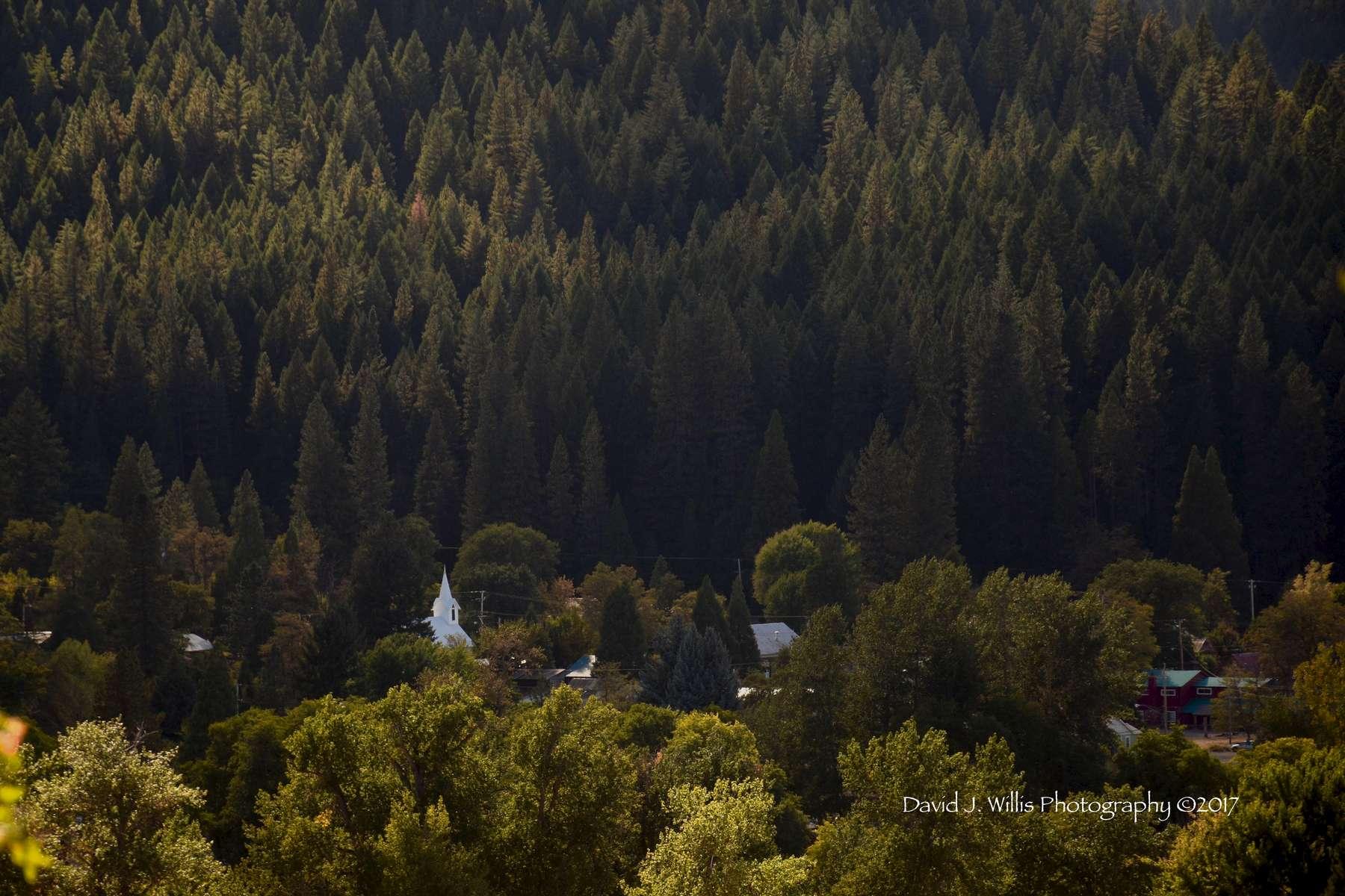 Church and Tavern, Fall, Taylorsville, Plumas County