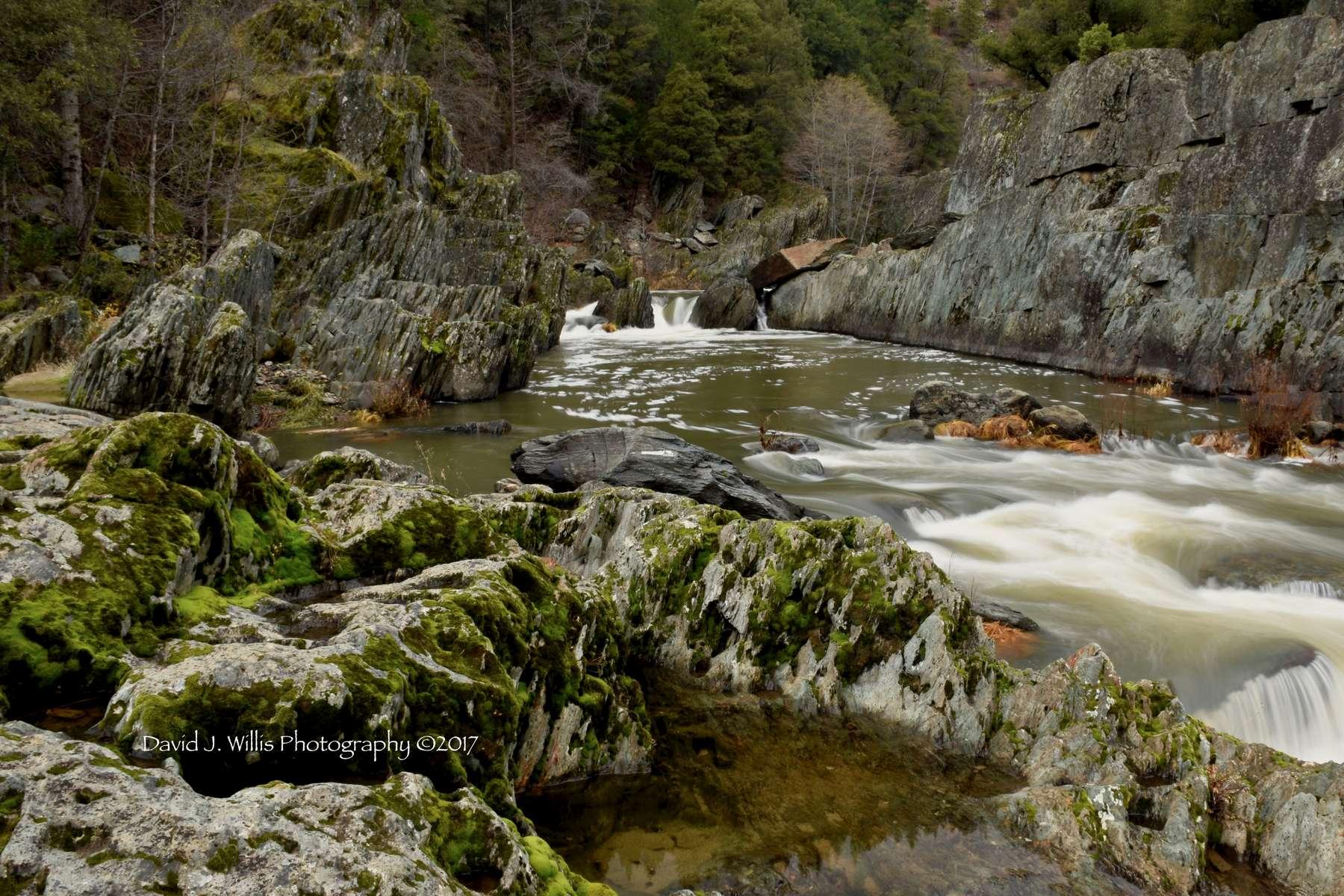 Indian Falls 3a, Indian Creek, Fall, Plumas County