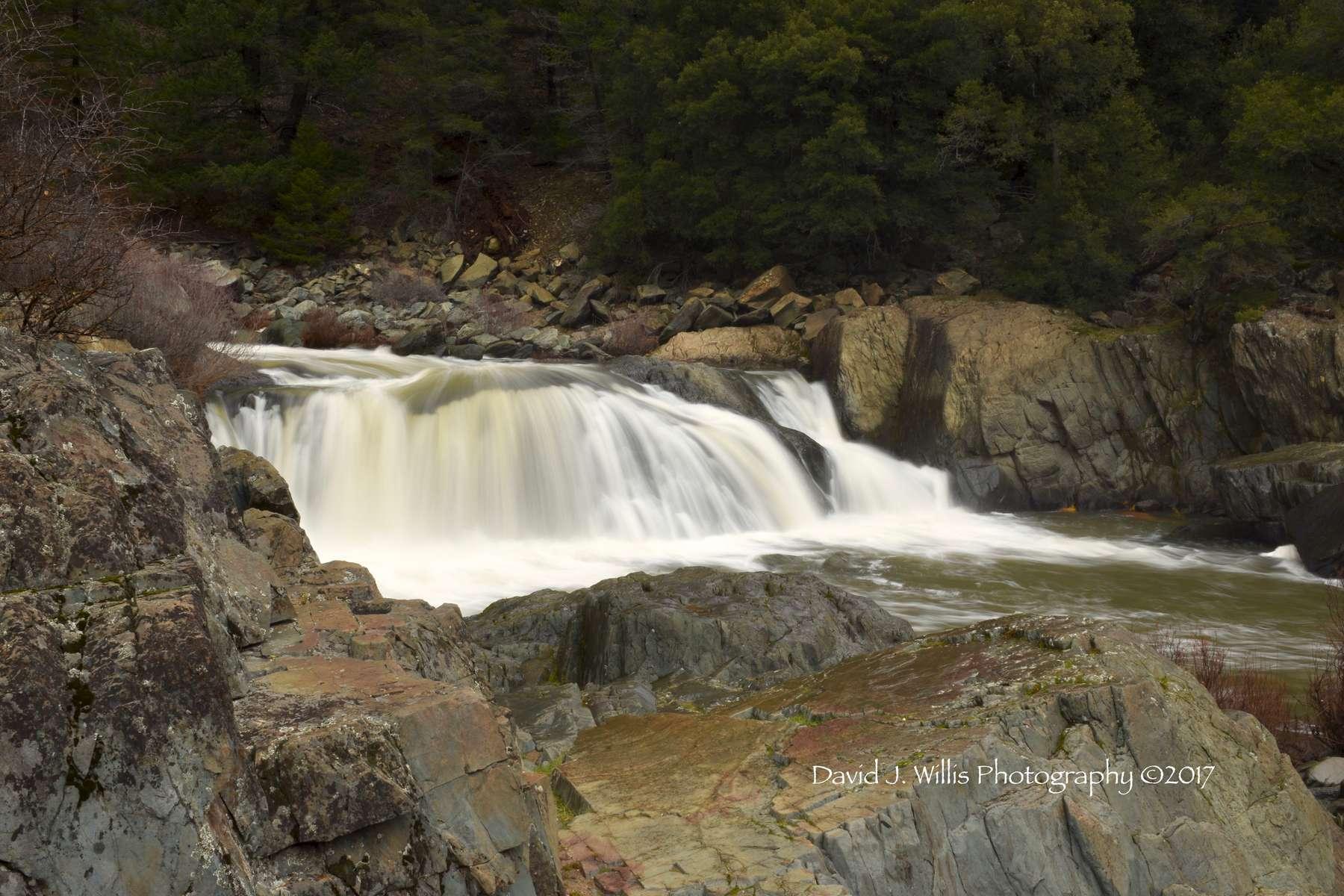 Indian Falls, Indian Creek , Fall, Plumas County