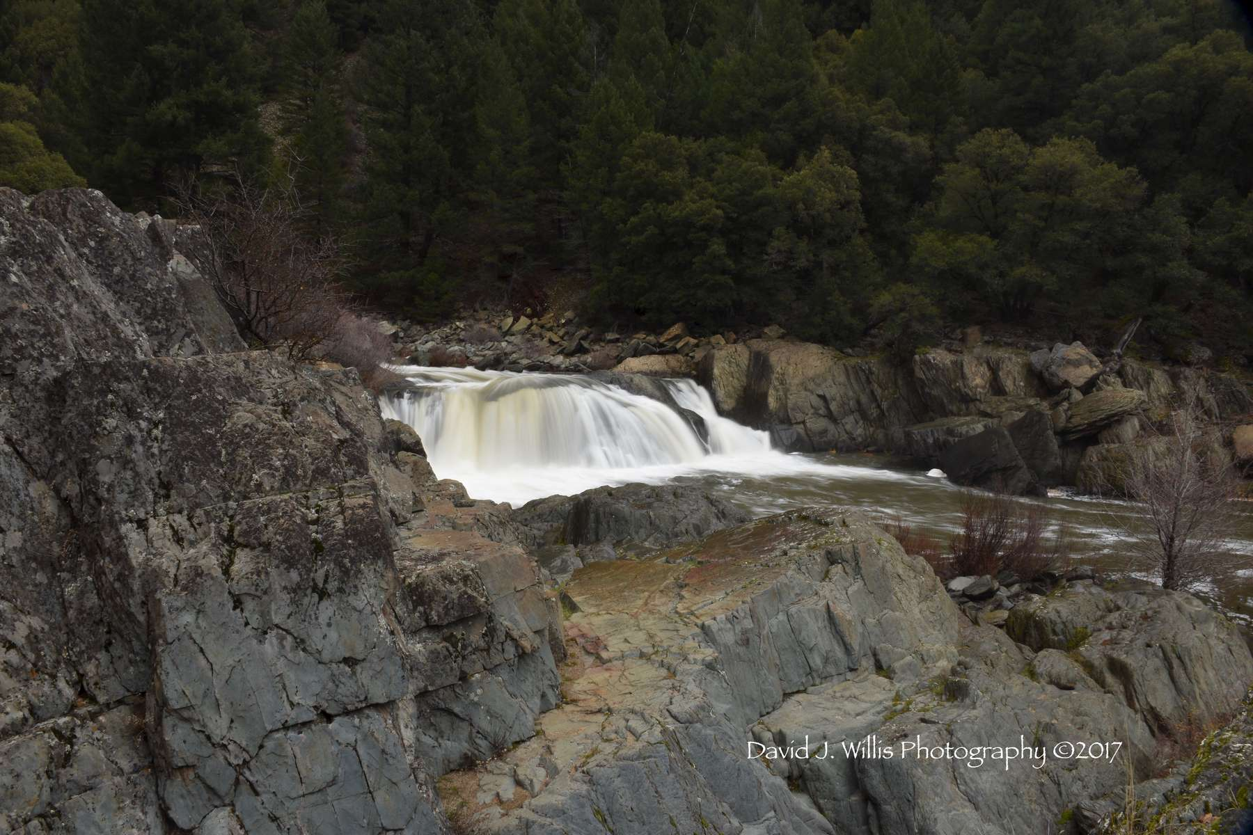 Indian Falls 2a, Indian Creek, Fall, Plumas County
