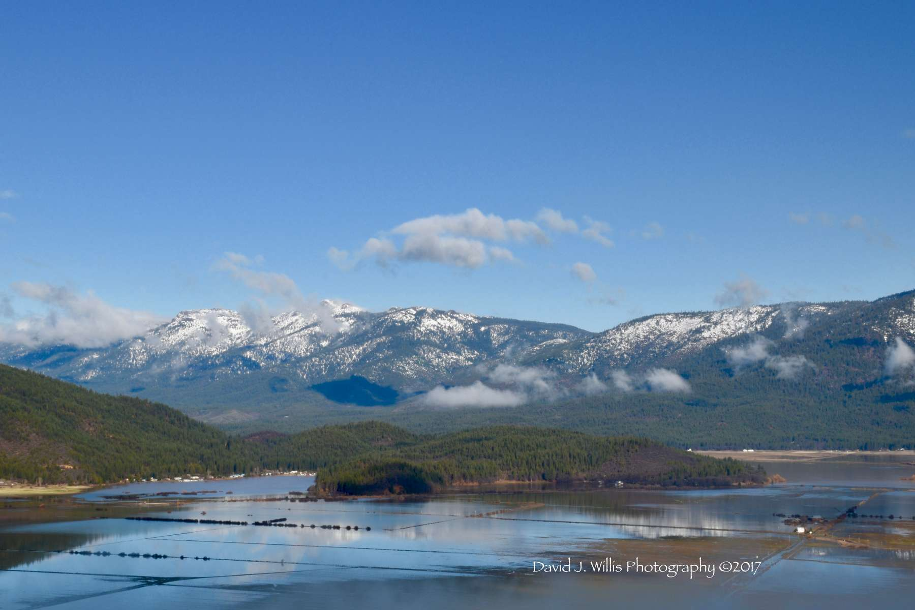 Indian Valley flooded with Keddie Ridge in the distance. Plumas County.