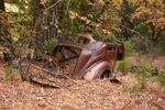 Junked Split Window Coupe, Indian Valley, Fall, Plumas County