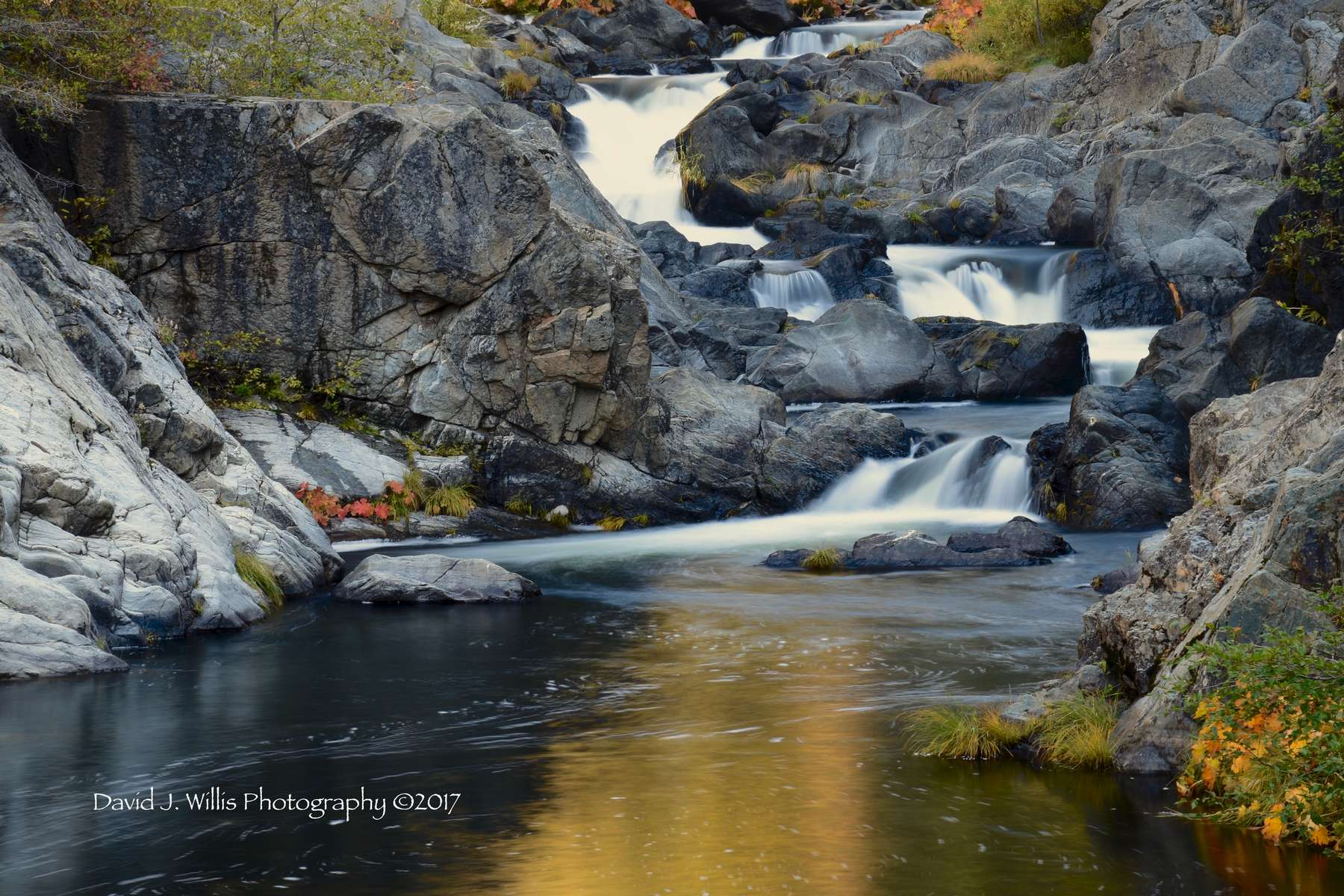 Keddie Cascades, Spanish Creek, Fall, Plumas County