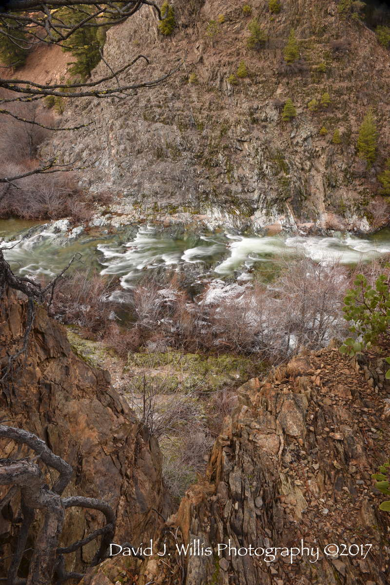 Lover's Leap, Spanish Creek, Winter, Plumas County