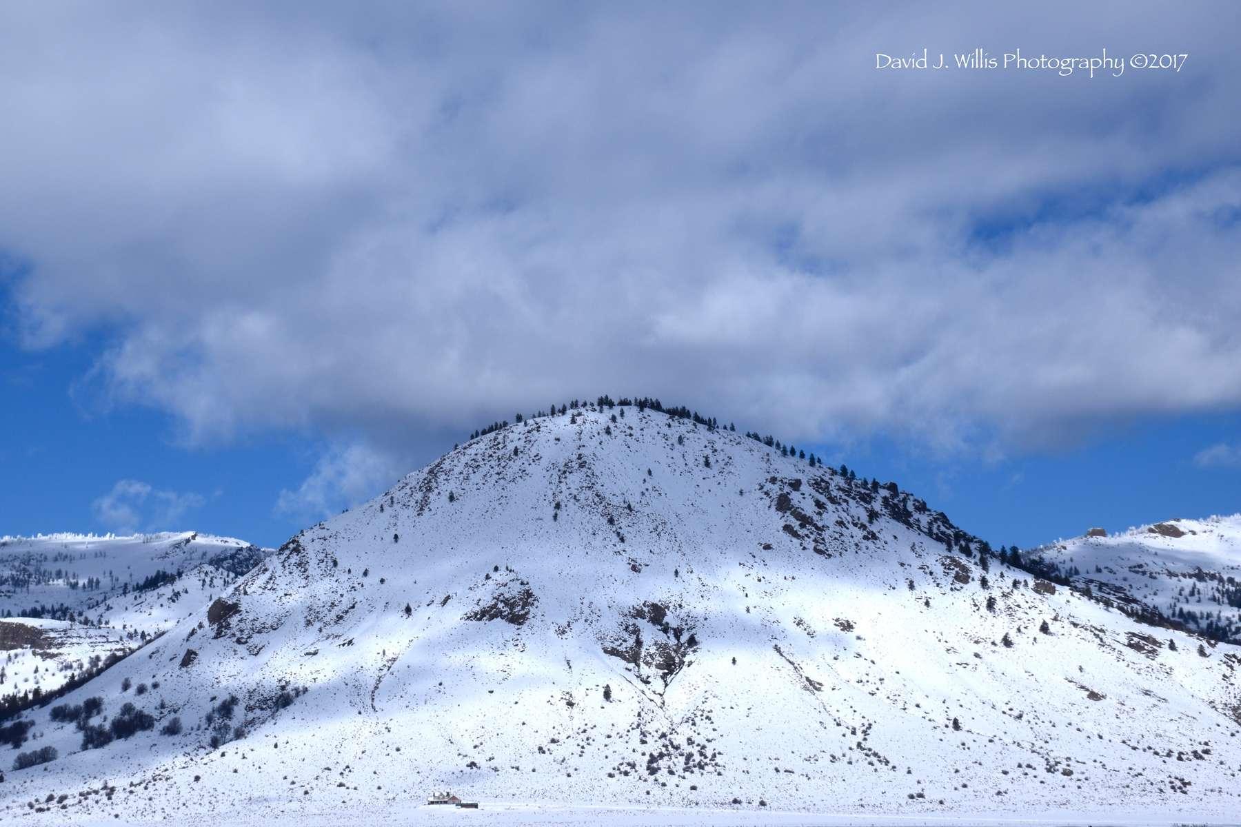 Sugarloaf, Sierra Valley, Winter, Plumas County