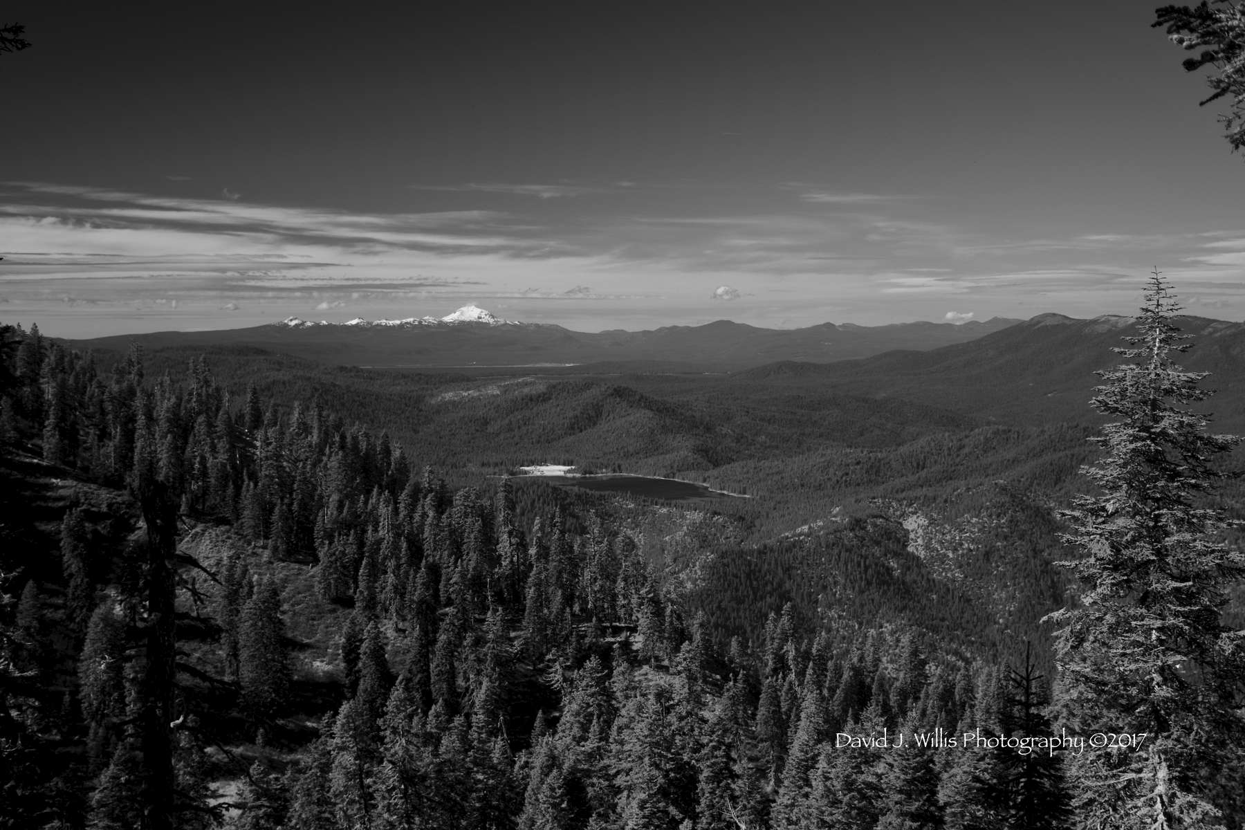 View Of Lassen from Mount Hough, Plumas County