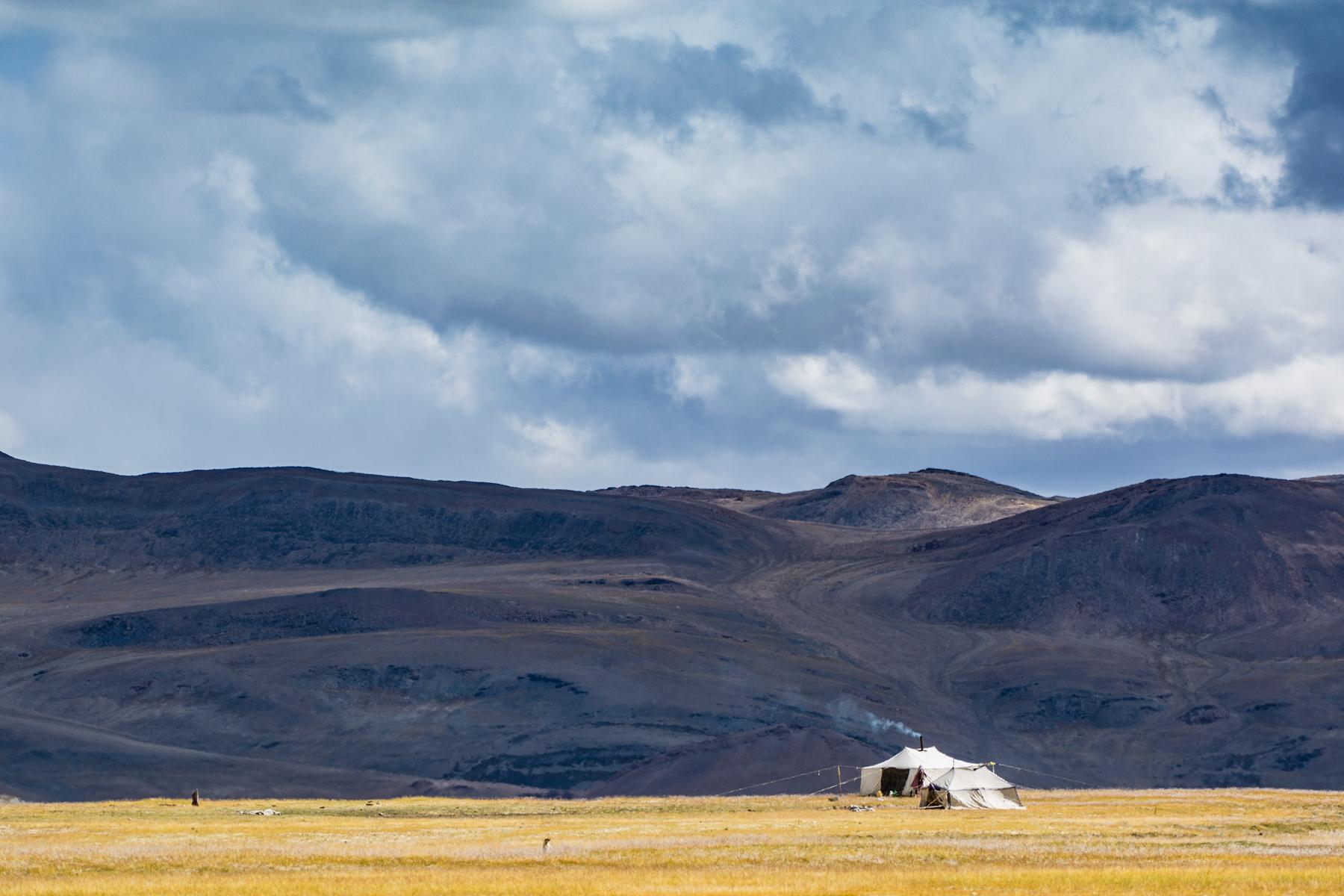A Changpa tent, Changthang, Ladakh