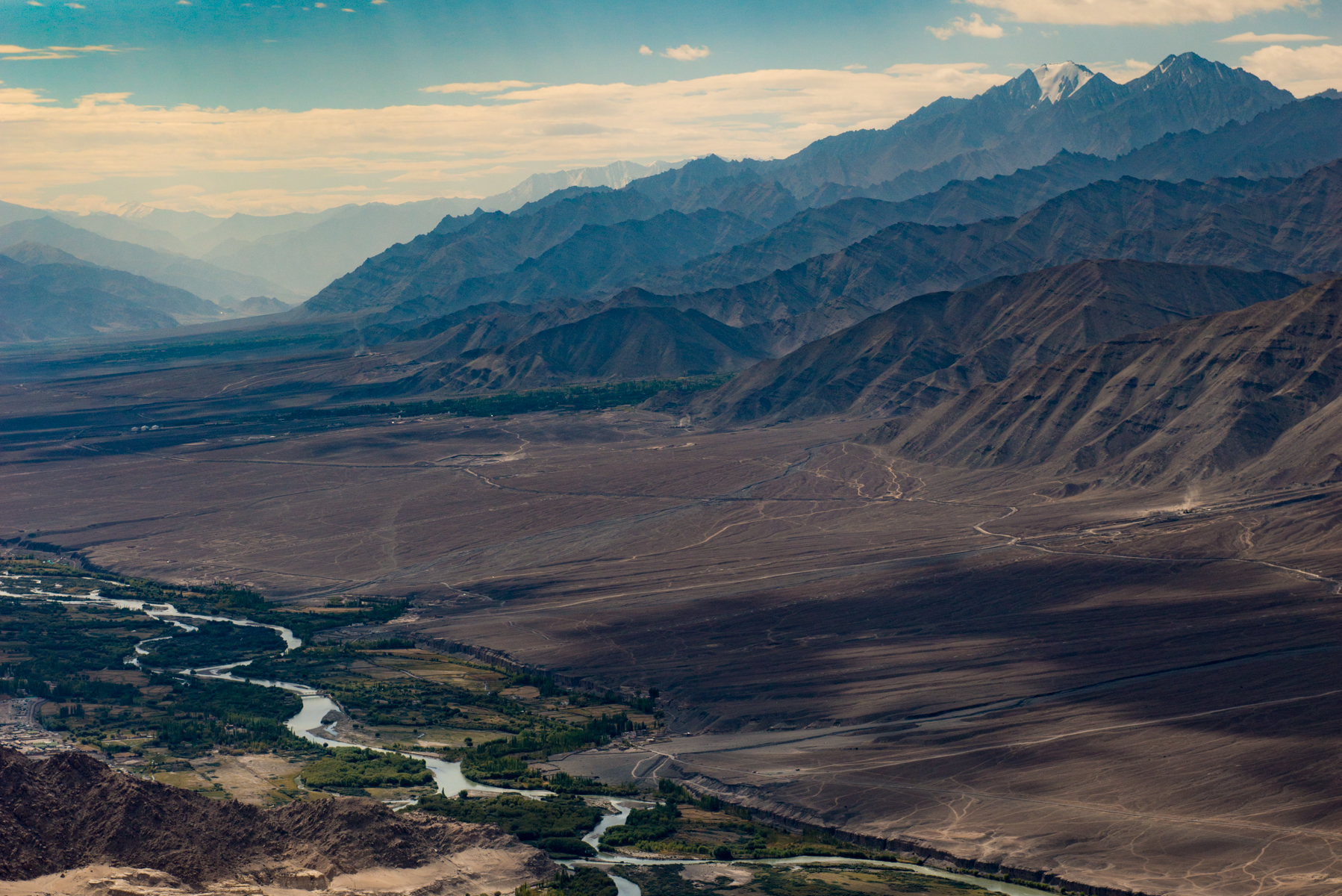 The Indus past the Stok Range, Ladakh