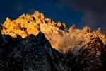 Granite spires, Karakorum Range, Ladakh